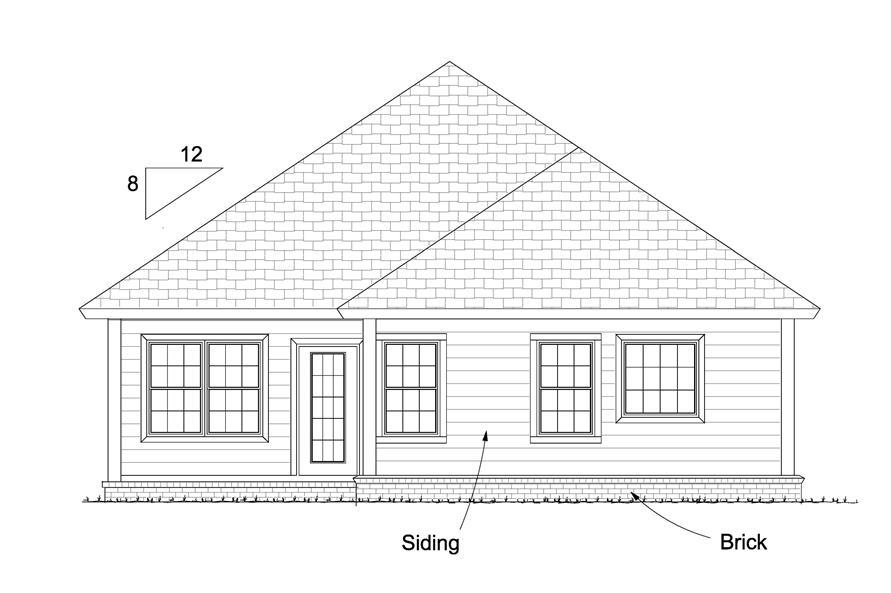 178-1235: Home Plan Rear Elevation
