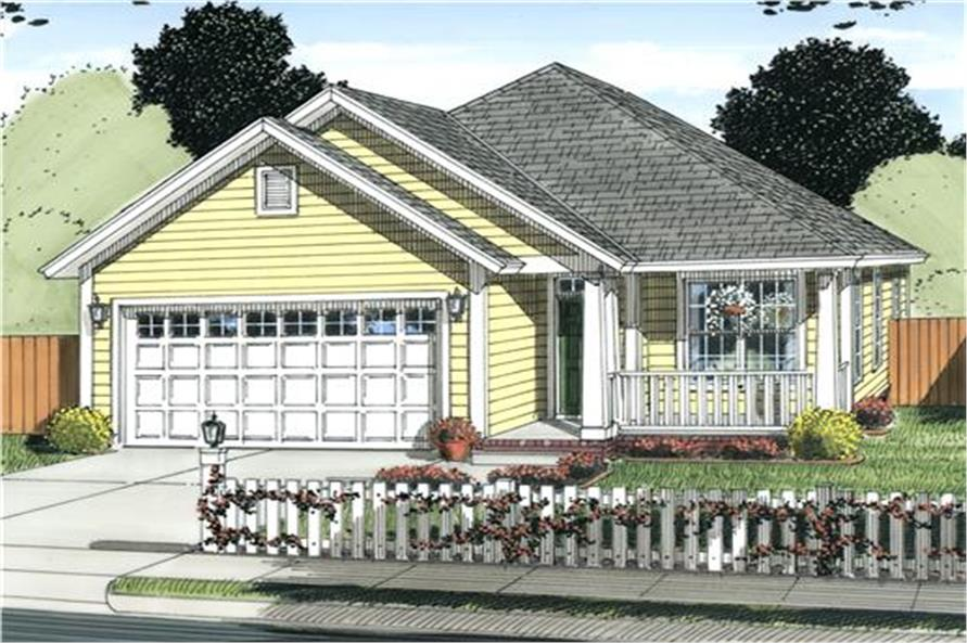178-1235: Home Plan Rendering-Front Door