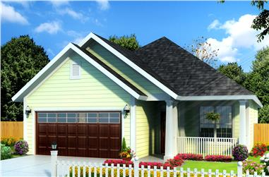 3-Bedroom, 1491 Sq Ft Cottage House Plan - 178-1235 - Front Exterior