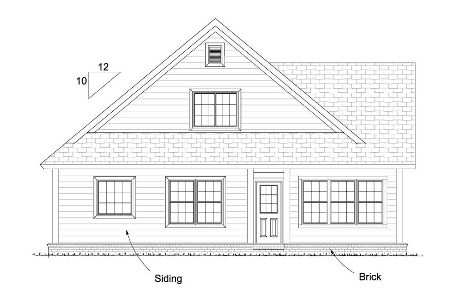 178-1236: Home Plan Rear Elevation
