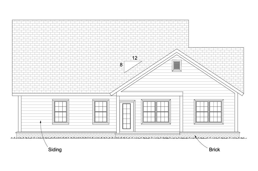 178-1237: Home Plan Rear Elevation