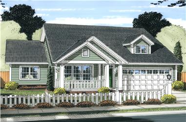 3-Bedroom, 1570 Sq Ft Craftsman House Cottage Plan - 178-1237 - Front Exterior