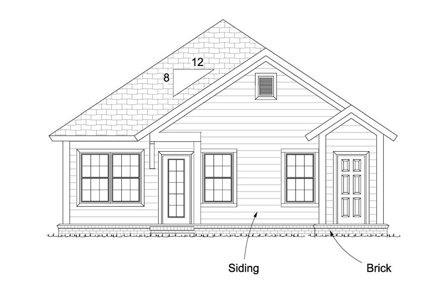 178-1238: Home Plan Rear Elevation
