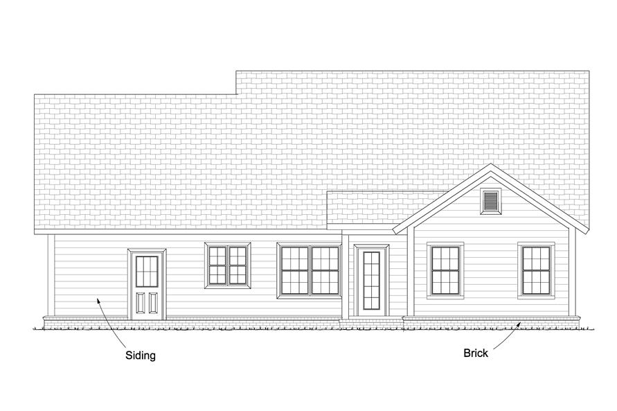 178-1239: Home Plan Rear Elevation
