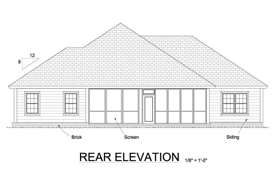 178-1240: Home Plan Rear Elevation