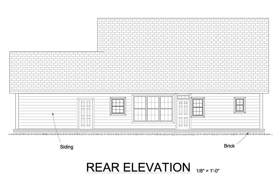 178-1241: Home Plan Rear Elevation