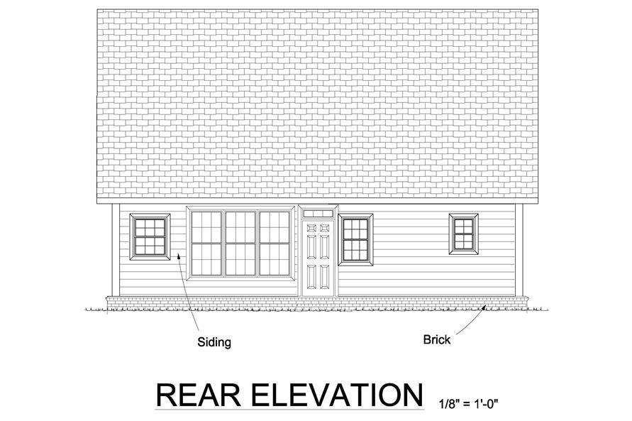 178-1242: Home Plan Rear Elevation