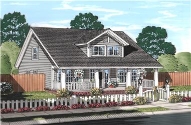 3-Bedroom, 2066 Sq Ft Craftsman House Plan - 178-1242 - Front Exterior