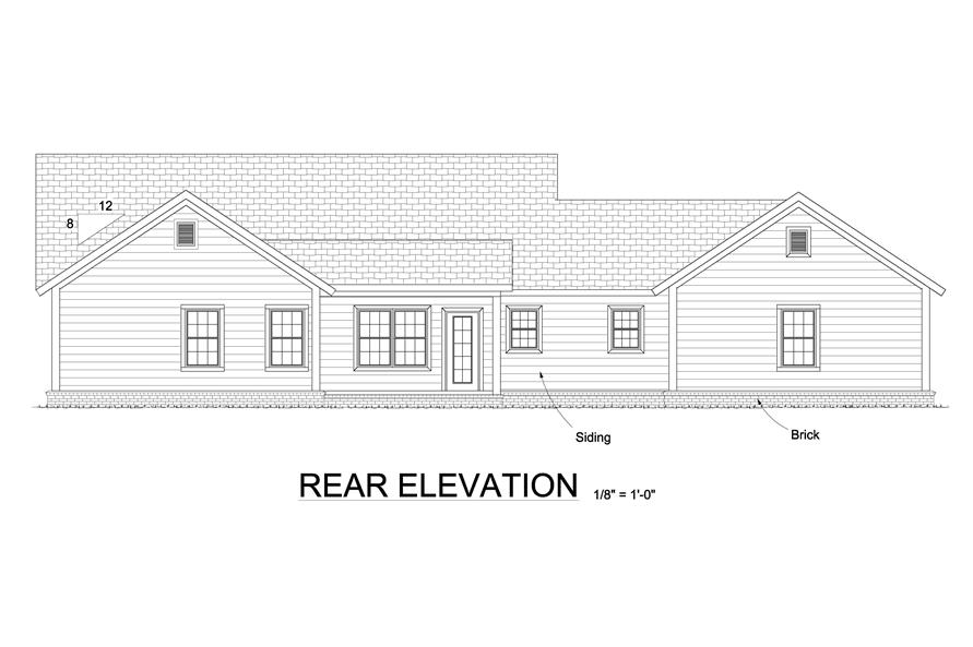 178-1243: Home Plan Rear Elevation
