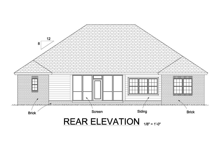 178-1244: Home Plan Rear Elevation