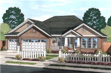 4-Bedroom, 2066 Sq Ft Craftsman Home Plan - 178-1244 - Main Exterior