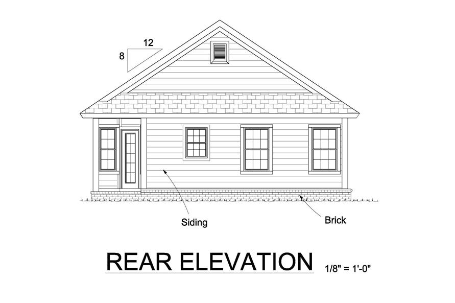 178-1245: Home Plan Rear Elevation