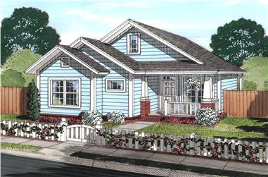 3-Bedroom, 1163 Sq Ft Cottage Home Plan - 178-1245 - Main Exterior