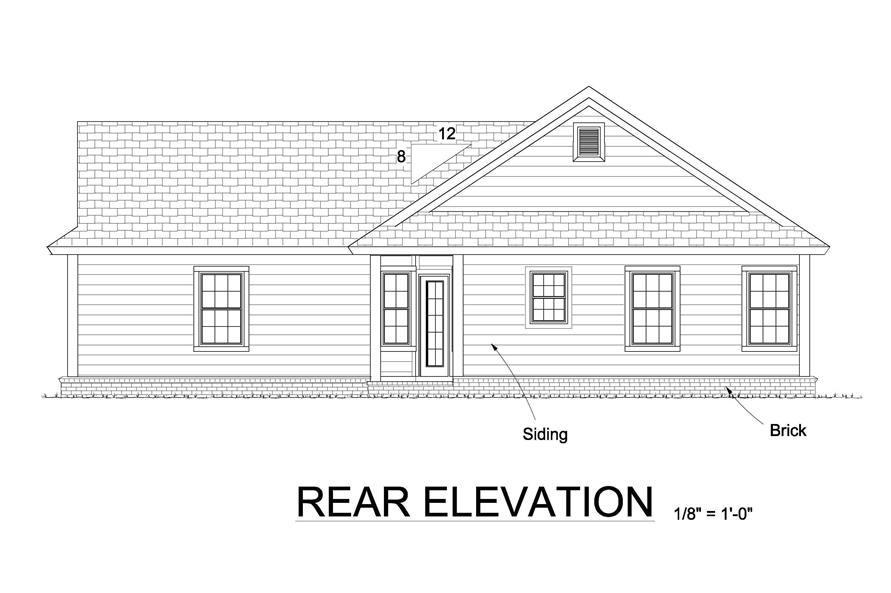 178-1246: Home Plan Rear Elevation