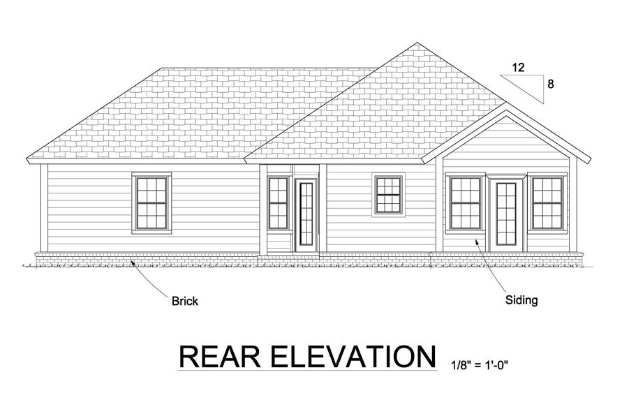 178-1247: Home Plan Rear Elevation