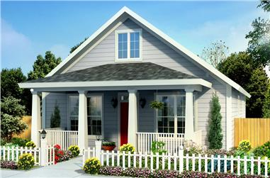 3-Bedroom, 1277 Sq Ft Traditional House Plan - 178-1248 - Front Exterior