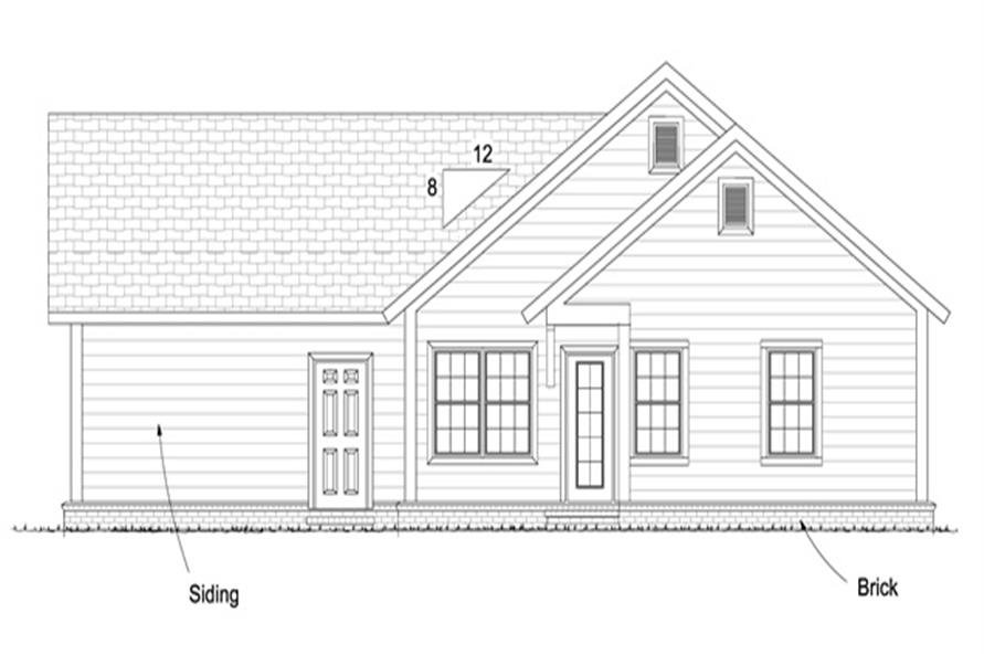 178-1249: Home Plan Rear Elevation