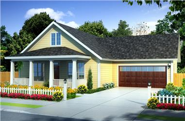 3-Bedroom, 1277 Sq Ft Traditional House Plan - 178-1249 - Front Exterior