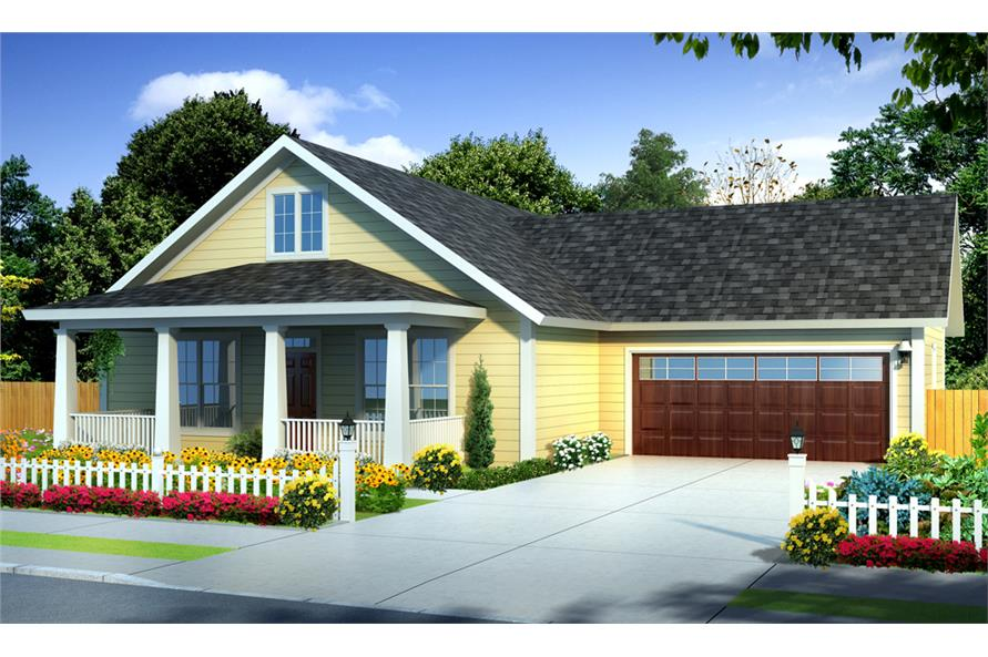 Front elevation of Traditional home (ThePlanCollection: House Plan #178-1249)