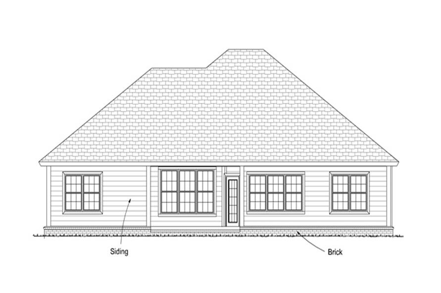 178-1250: Home Plan Rear Elevation