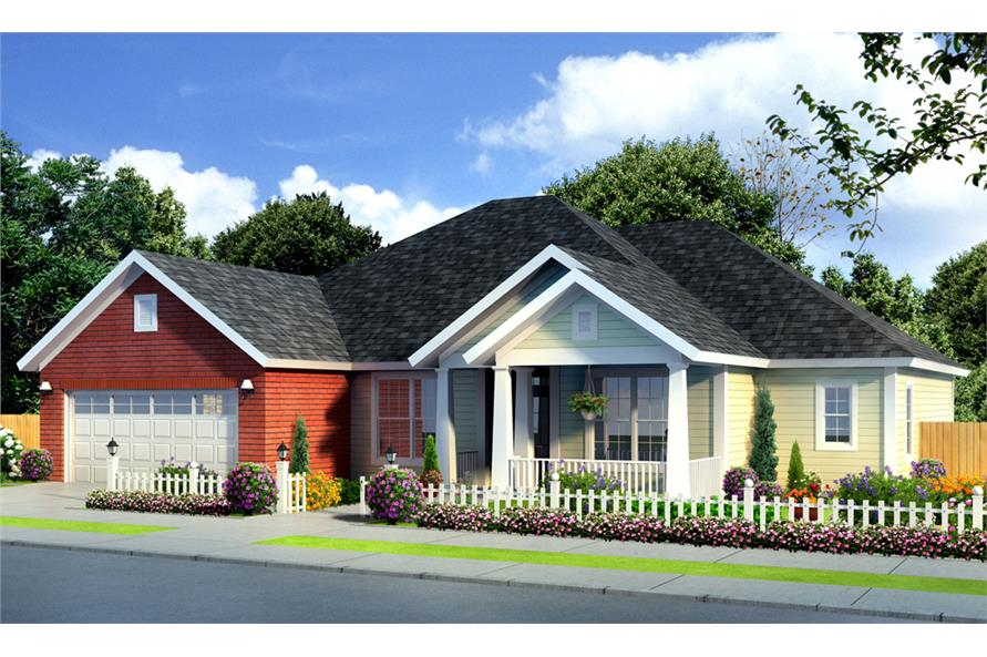 Front elevation of Traditional home (ThePlanCollection: House Plan #178-1250)