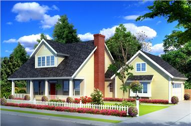 3-Bedroom, 1675 Sq Ft 1 1/2 Story Home Plan - 178-1251 - Main Exterior