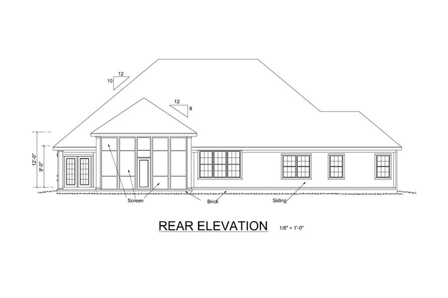 178-1252: Home Plan Rear Elevation