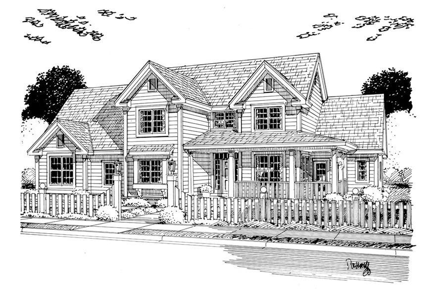 Home Plan Rendering of this 4-Bedroom,2578 Sq Ft Plan -2578