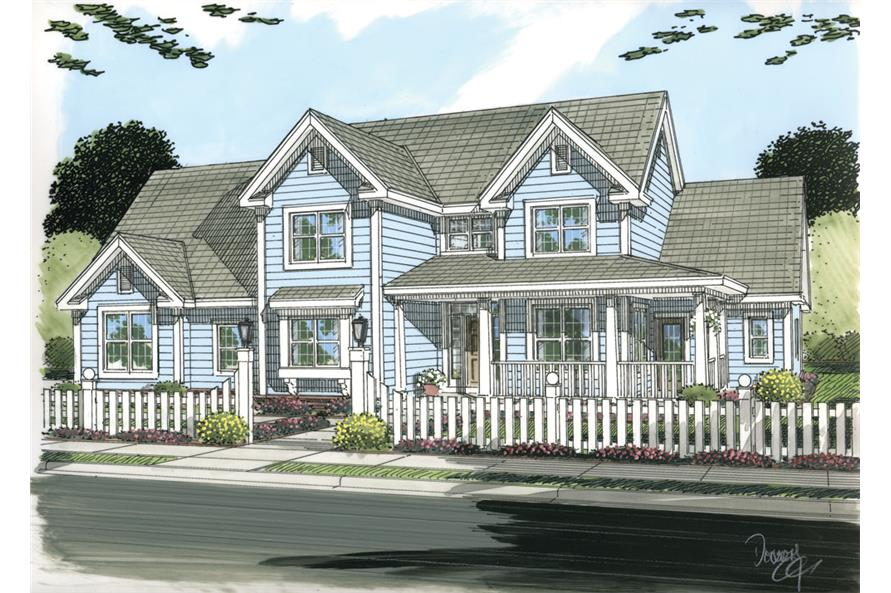 4-Bedroom, 2578 Sq Ft Country Home Plan - 178-1253 - Main Exterior