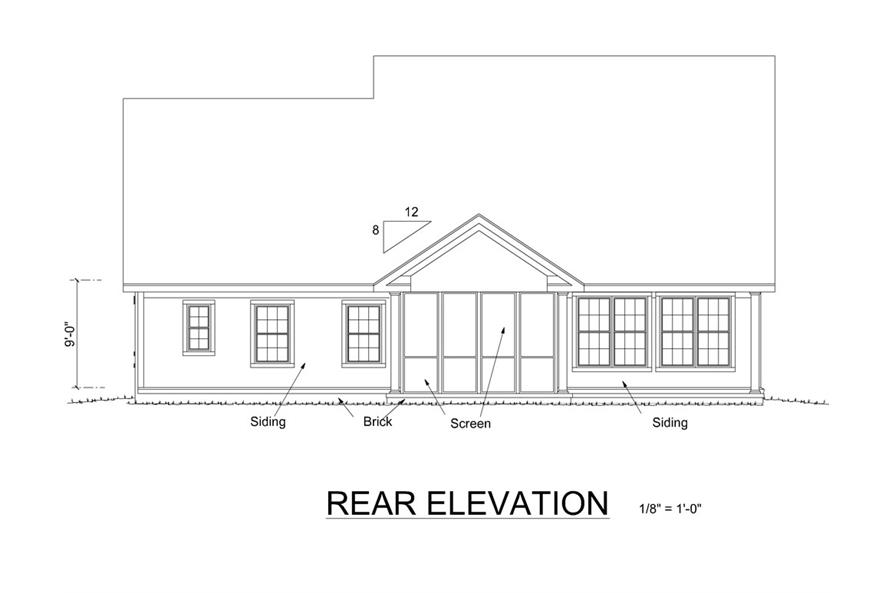 178-1256: Home Plan Rear Elevation