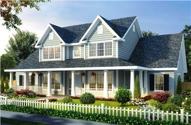 4-Bedroom, 2481 Sq Ft Farmhouse House Plan - 178-1257 - Front Exterior