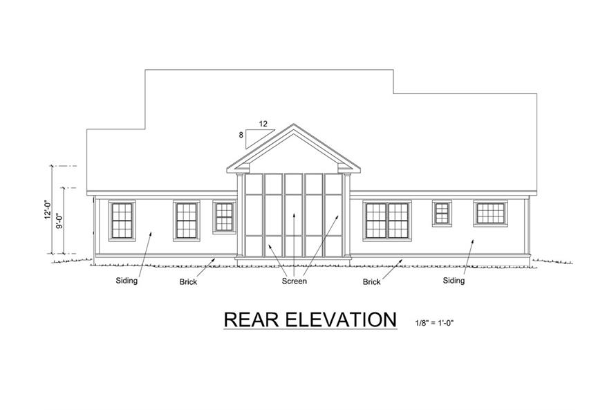 178-1258: Home Plan Rear Elevation