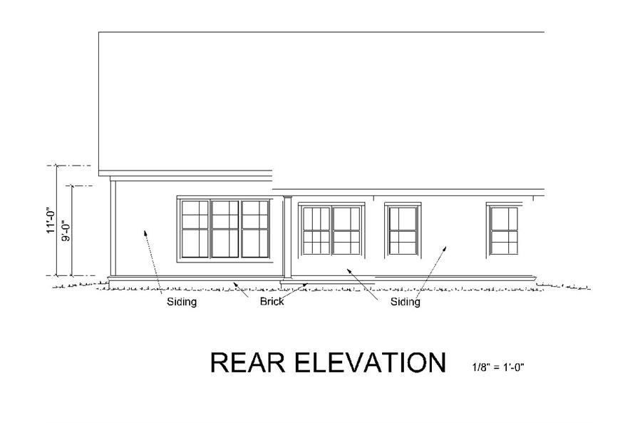 178-1259: Home Plan Rear Elevation