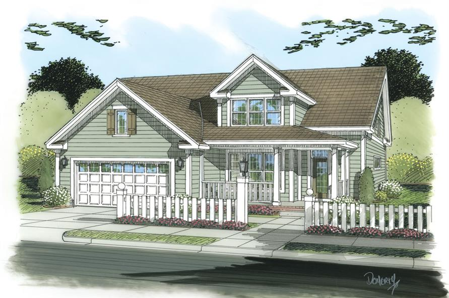 Front elevation of Country home (ThePlanCollection: House Plan #178-1259)