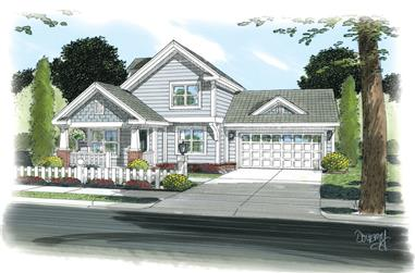 3-Bedroom, 1132 Sq Ft Cottage Home Plan - 178-1260 - Main Exterior