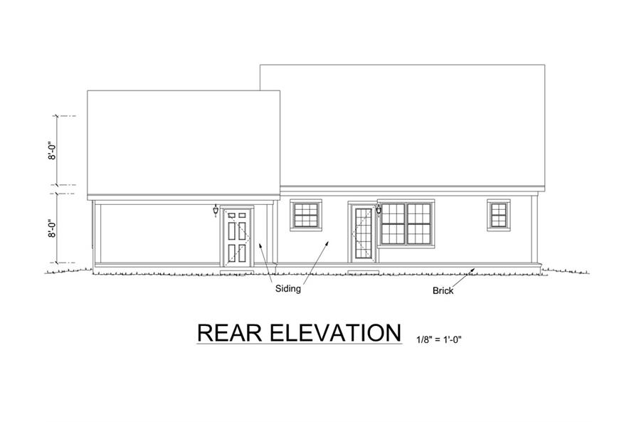 178-1262: Home Plan Rear Elevation