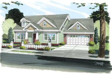 3-Bedroom, 1188 Sq Ft Cottage Home Plan - 178-1262 - Main Exterior