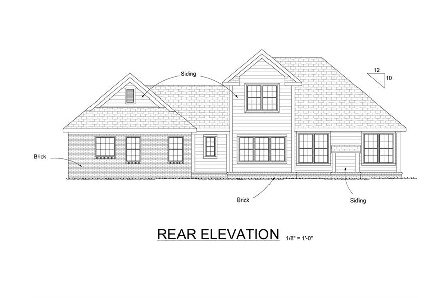 178-1263: Home Plan Rear Elevation