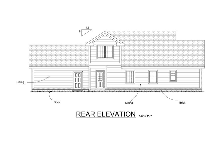178-1264: Home Plan Rear Elevation