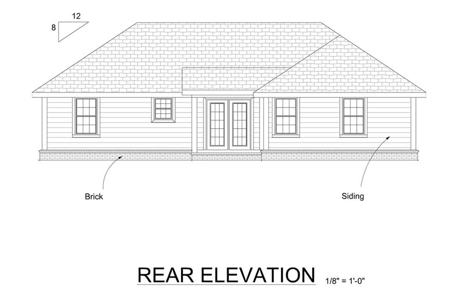 178-1265: Home Plan Rear Elevation