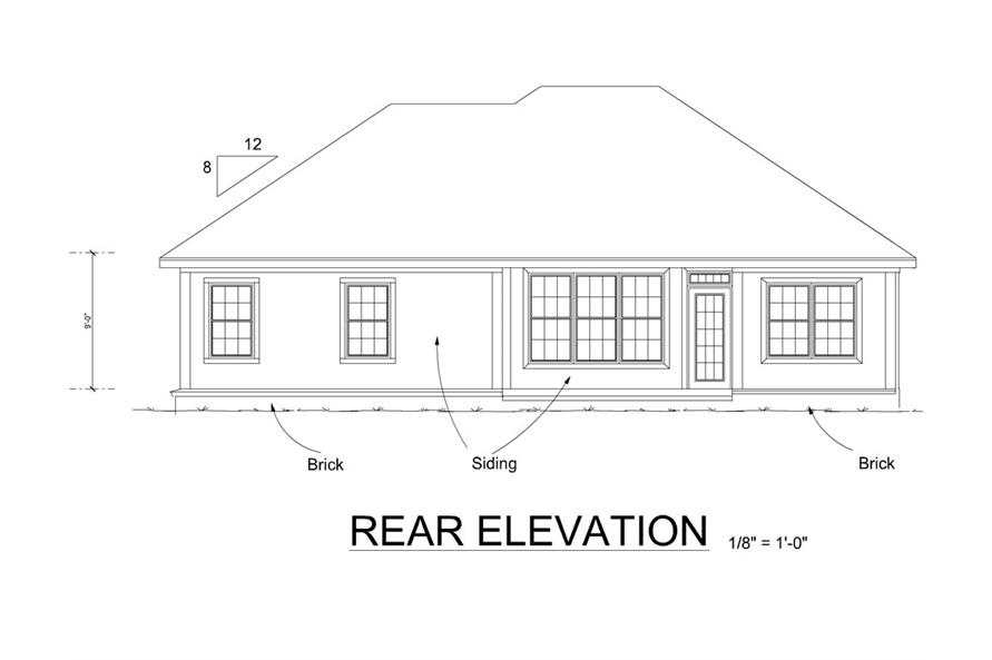178-1266: Home Plan Rear Elevation