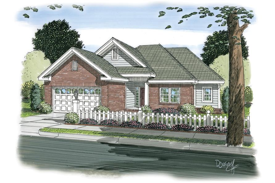 Front elevation of Traditional home (ThePlanCollection: House Plan #178-1266)