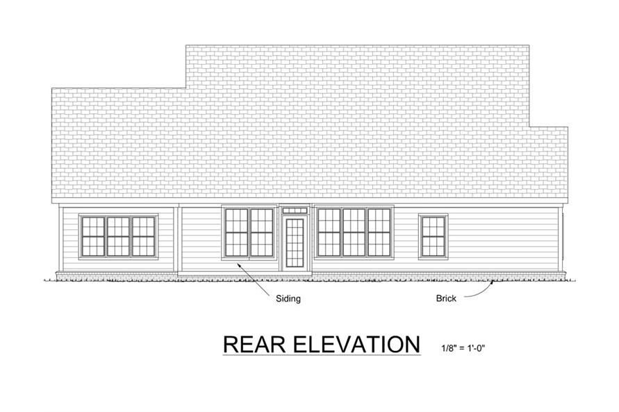 178-1267: Home Plan Rear Elevation