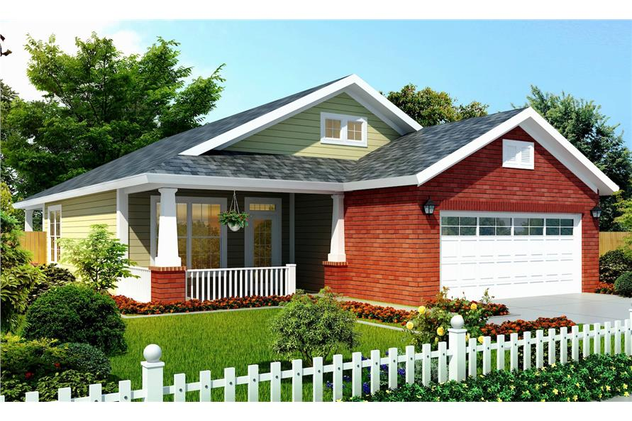 Home Plan Rendering of this 3-Bedroom,1253 Sq Ft Plan -1253