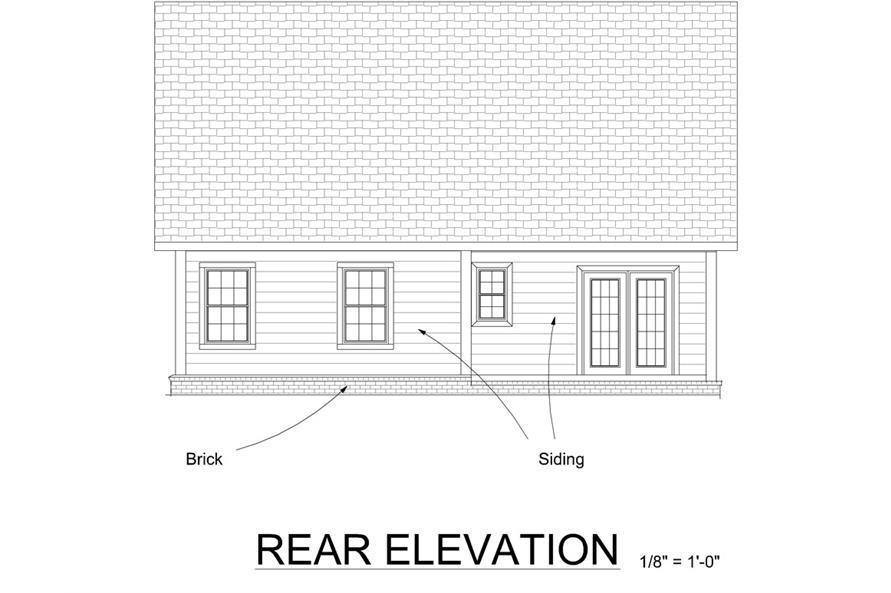 178-1269: Home Plan Rear Elevation