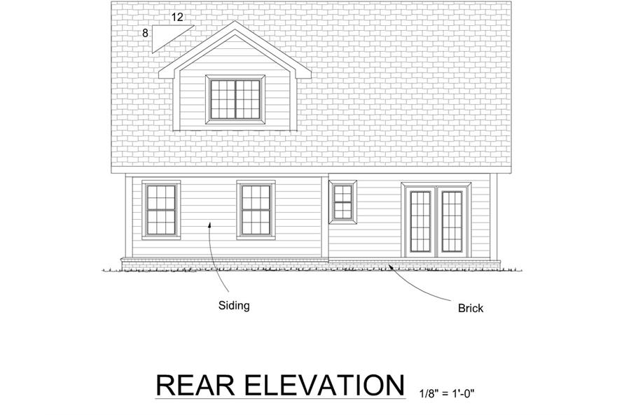 178-1270: Home Plan Rear Elevation
