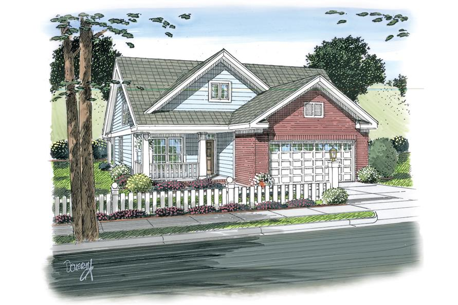 Front elevation of Traditional home (ThePlanCollection: House Plan #178-1270)