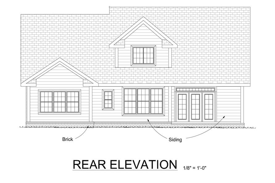 178-1271: Home Plan Rear Elevation