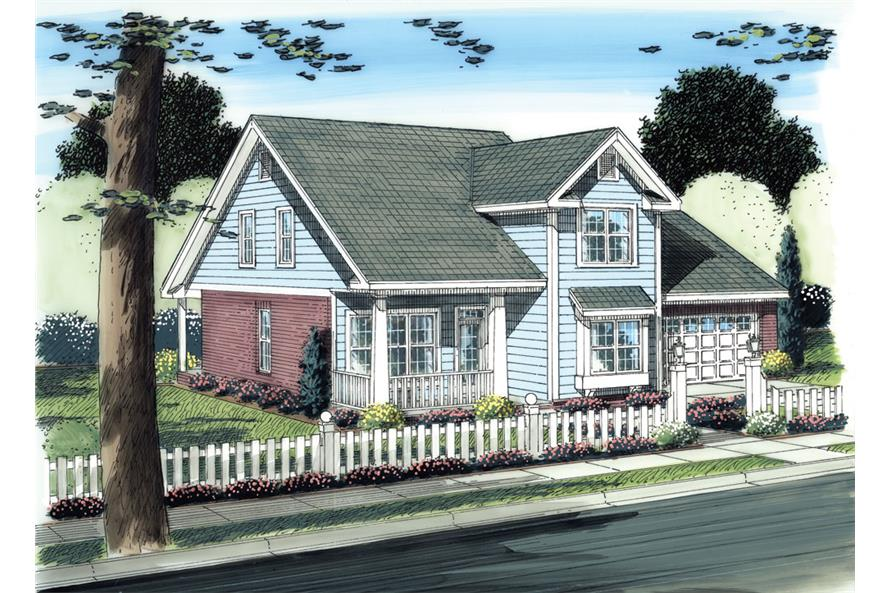 Front elevation of Traditional home (ThePlanCollection: House Plan #178-1271)