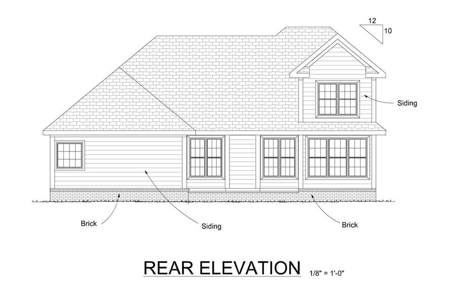 178-1272: Home Plan Rear Elevation